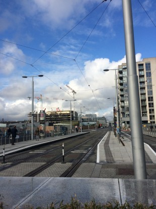 Empty tracks this morning on the Luas red line.