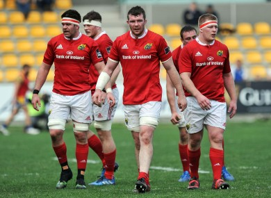 Munster's players pictured during their game with Zebre.