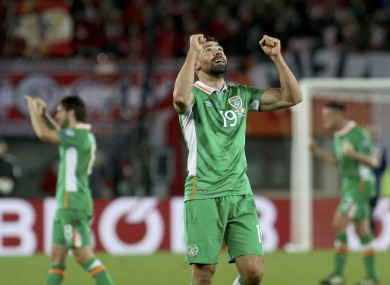 Walters has played every minute of Ireland's World Cup qualifying campaign so far.