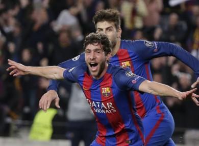 Match-winning goalscorer Sergi Roberto.