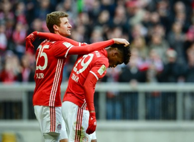 Muller and Coman: French youngster is staying at Bayern.