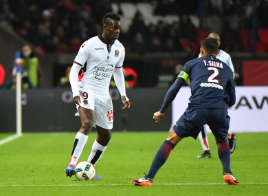 Nice 's Mario Balotelli during the French Ligue 1 soccer match.