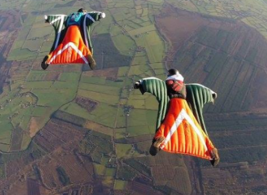 Brothers Stephen and david Duffy of The Irish Parachute Club.