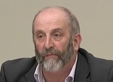 Danny Healy-Rae speaking before the Oireachtas Transport Committee on Wednesday.