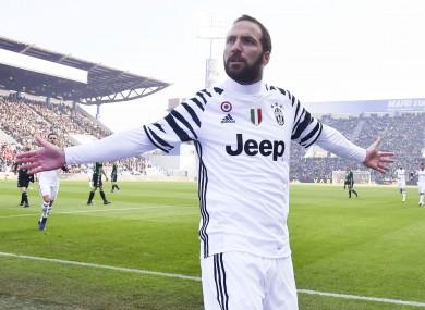 Juventus' Gonzalo Higuain.