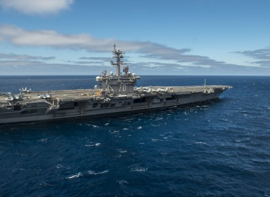 File photo of USS Carl Vinson.