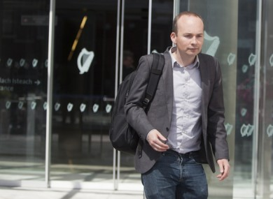 Solidarity TD Paul Murphy outside court.