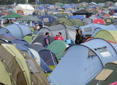 Tents at Electric Picnic