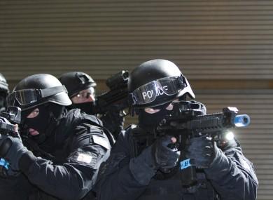Members of An Garda Síochana, carrying out a counter terrorism exercise.