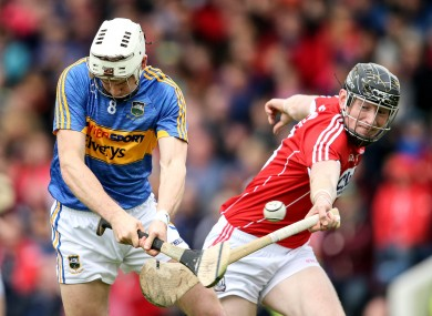 Tipperary's Brendan Maher and Cork's Damien Cahalane.