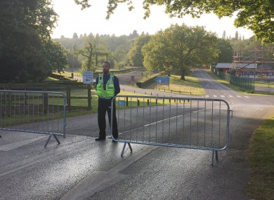 Police set up a cordon around the theme park after the incident.