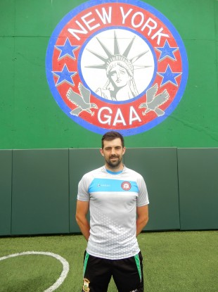 New York defender Gerard McCartan.