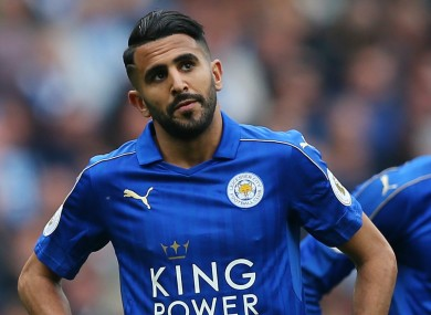Mahrez will not be seen in a Leicester jersey next season if he has his way.