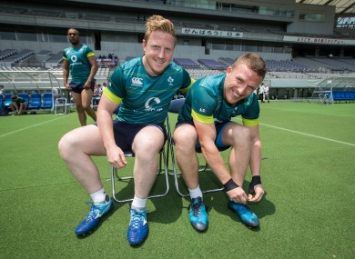 Leinster's James Tracy and Munster's Andrew Conway start for Ireland against Japan tomorrow morning (6.40 Irish time).