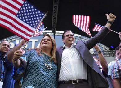 Congresswoman Jennifer Gonzalez and Governor Ricardo Rossello celebrate the results