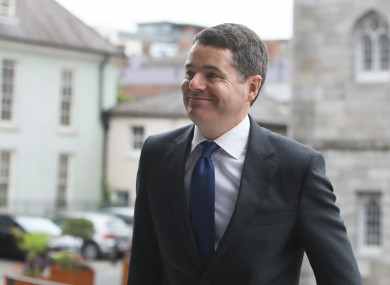 Finance and Public Expenditure Minister Paschal Donohoe