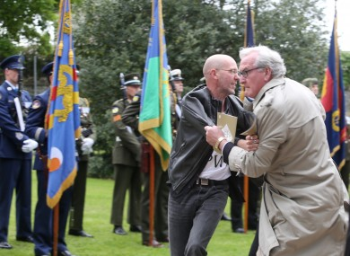 Canadian Ambassador Kevin Vickers tackled a protester at the 1916 event in Grangegorman Cemetery