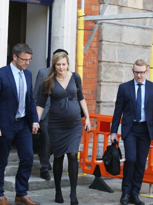 Psychologist Laura Brophy after giving evidence on the second day of public hearing at the Disclosures Tribunal in Dublin Castle.