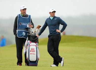 McIlroy and Fitzgerald at the Open.