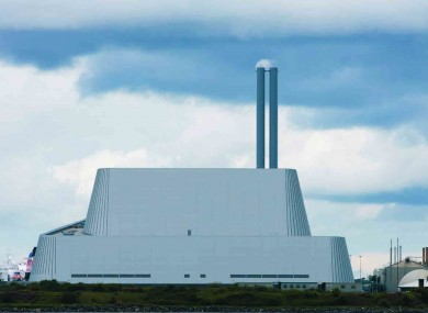 The Poolbeg Incinerator.