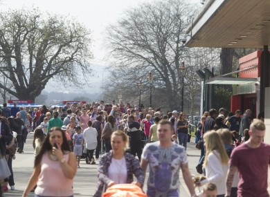A long queue for the Dublin Zoo in the Phoenix Park, Dublin.