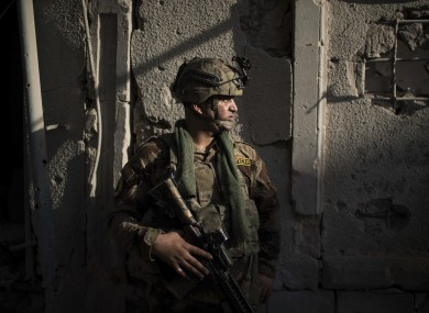 An Iraqi forces soldier.