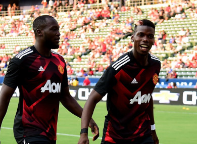 Manchester United pair Romelu Lukaku and Paul Pogba