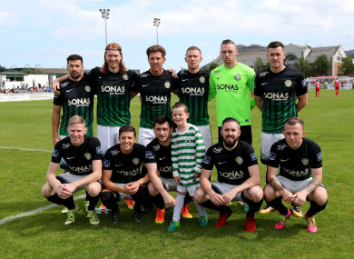 The Bray team that played Cork City last week.