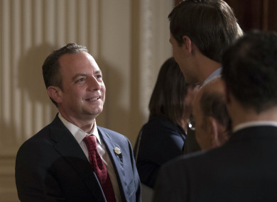 It was announced that Reince Priebus had been replaced before it had been announced that he'd left.