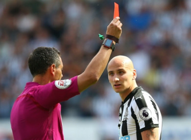 Shelvey saw red in the campaign opener at the weekend.