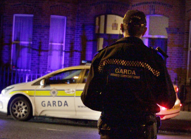 A member of the Armed Garda Support Unit in Dublin.