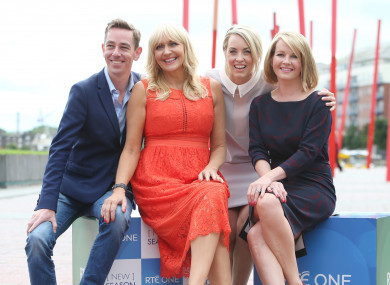 Ryan Tubridy, Miriam O'Callaghan, Kathryn Thomas and Claire Byrne. All but Thomas are among RTÉ's top 10 earners.