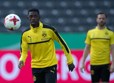 Dembele played no part in the opening weekend of the Bundesliga and is currently in France.