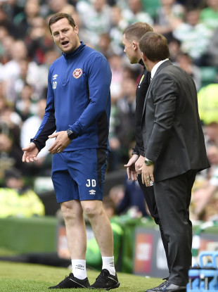 Daly and Rodgers on the touchline earlier.