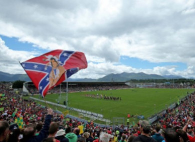 Confederate flag flown by Cork supporters in 2015.
