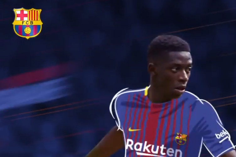 huge selection of 715d8 2e003 Barcelona announce €105m capture of French forward Ousmane ...