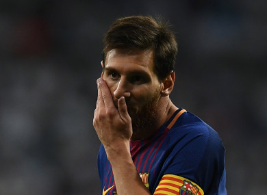 Lionel Messi was among the footballers who paid tribute to the victims of the Barcelona terror attack.