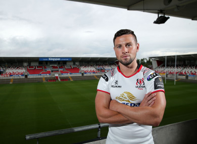 John Cooney launching the new Ulster jersey yesterday.