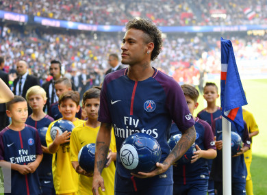 Neymar joined PSG for a record fee of €222 million last week.