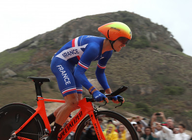 France's Julian Alaphilippe, seen here during the 2016 Rio Olympics, won today's stage.