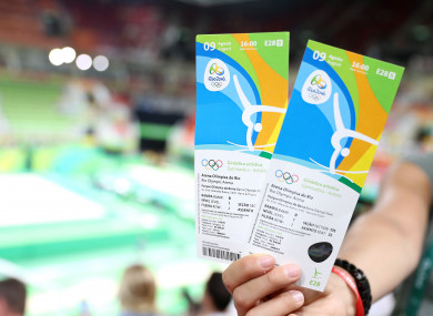 File photo of Rio 2016 tickets.