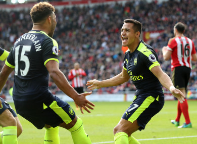 Oxlade-Chamberlain and Sanchez are both the subject of interest from elsewhere.