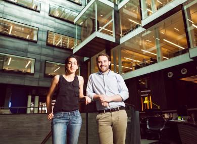 Lynch with Huckletree co-founder Gabriela Hersham