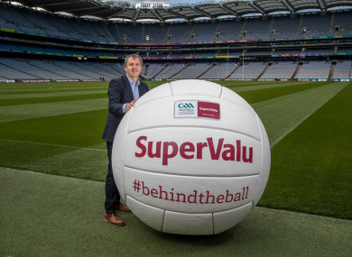 Peter Keane is part of SuperValu's #BehindTheBall campaign.