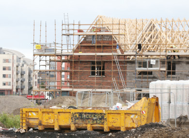 Building and construction sites for new housing estates in northern Dublin city.