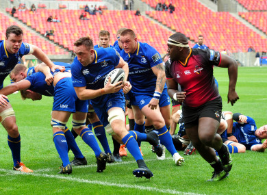 Jack Conan was among the try-scorers for Leinster.