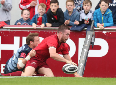 Hanrahan scored two second-half tries after coming off the bench.