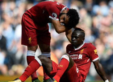 Sadio Mane's outing ended early last Saturday.