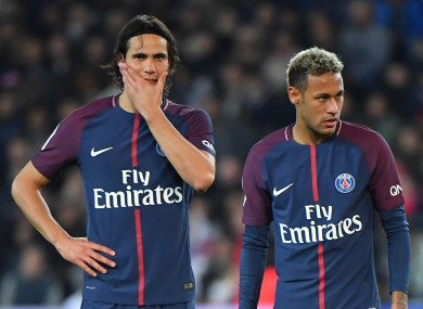 Cavani (left) and Neymar (right) have had more than one set piece-related dispute.