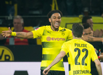 half off 92487 d8e8b Aubameyang hits hat-trick in Dortmund rout as his battle ...